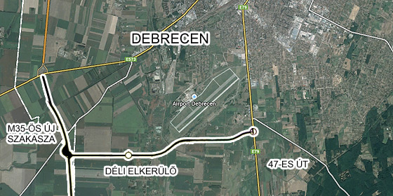 4 es főút debrecen elkerülő térkép Így kerülhetik majd el Debrecent a többtonnás kamionok   Debrecen  4 es főút debrecen elkerülő térkép